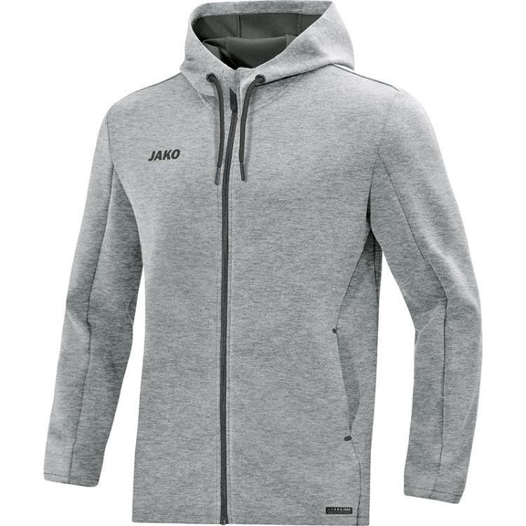 1032ccd038 Kapucnis szabadidő felső Premium Basics - Szürke melírozott / JAKO Sport / JAKO  Sport Magyarország